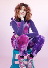 Load image into Gallery viewer, Tie Dye Cord Dungarees in Purple
