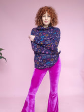Load image into Gallery viewer, Purple Moth Print Jumper