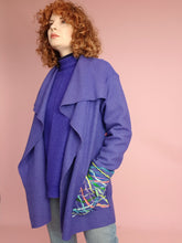 Load image into Gallery viewer, Embellished Wool Coat in Blue
