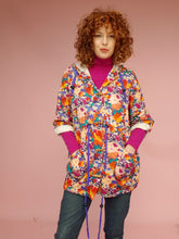 Load image into Gallery viewer, Liberty Fleece Parka in Abstract Floral Print