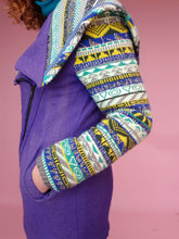 Load image into Gallery viewer, Fair Isle Cowl Hood Coat