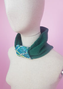 Embellished Cuff Neck Warmer / Turban in Forest Green