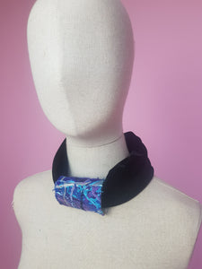 Embellished Velvet Headband in Black