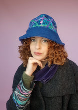 Load image into Gallery viewer, Boiled Wool Brimmed Hat in Slate Blue
