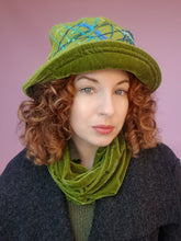 Load image into Gallery viewer, Boiled Wool Brimmed Hat in Olive Green