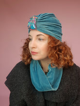 Load image into Gallery viewer, Embellished Velvet Turban in Sage