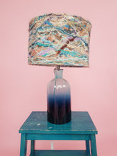 Load image into Gallery viewer, Medium Embellished Lampshade in Beach Blue