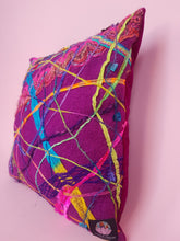 Load image into Gallery viewer, Medium Square Embellished Cushion in Rainbow
