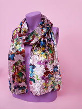 Load image into Gallery viewer, Velvet Scarf in Multi Floral
