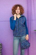 Load image into Gallery viewer, Gilet in Digital Blue Knit Print