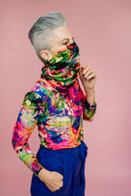 Load image into Gallery viewer, Jersey Snood in Rainbow Watercolour Jersey