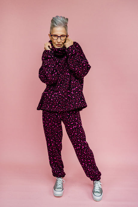 Purple Leopard Print Jumper