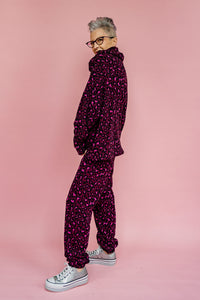 Fleece Sweatpants in Leopard Print
