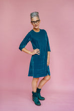 Load image into Gallery viewer, Velvet Swing Dress in Sage