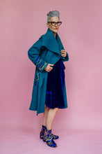 Load image into Gallery viewer, Embellished Wool Coat in Teal