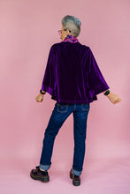 Load image into Gallery viewer, Embellished Velvet Kimono in Royal Purple