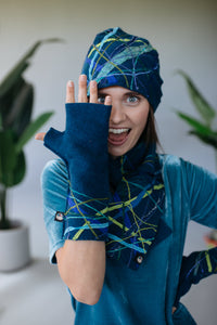 Lambs wool Embellished Hand Warmers - Diesel - Mittens - Megan Crook