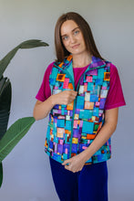 Load image into Gallery viewer, Gilet in Digital Block Print - Jacket - Megan Crook