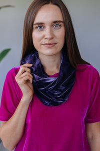Velvet Cowl in Lavender Grey - Accessories - Megan Crook