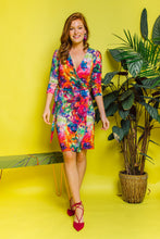 Load image into Gallery viewer, Jersey Wrap Dress in Rainbow Watercolour