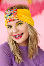Load image into Gallery viewer, Embellished Velvet Headband in Yellow - Accessories - Megan Crook