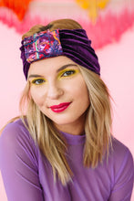 Load image into Gallery viewer, Embellished Velvet Headband in Purple - Accessories - Megan Crook
