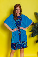Load image into Gallery viewer, Velvet Blanket Cardigan - Turquoise - Cardigan - Megan Crook