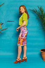 Load image into Gallery viewer, Midi Skirt in Lilac Abstract Print - Skirt - Megan Crook