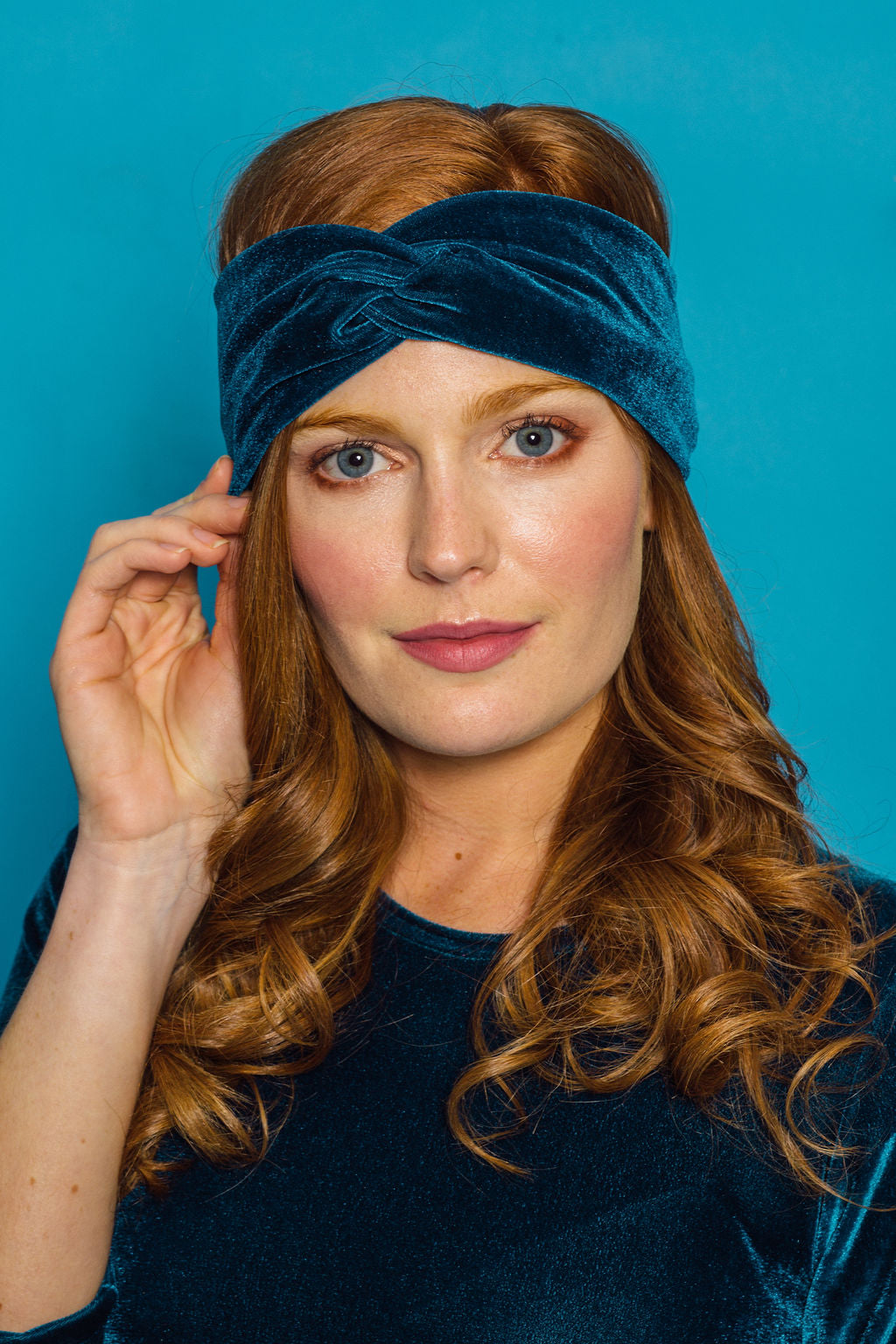 Velvet Headband in Teal - Accessories - Megan Crook