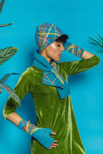 Load image into Gallery viewer, Lambs Wool Embellished Cloche Hat - Aqua Blue - Accessories - Megan Crook