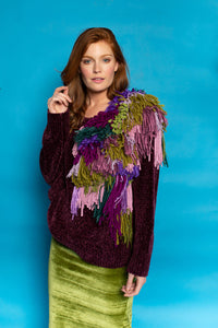 Bespoke Knitted Jumper- Purple - Jumper - Megan Crook