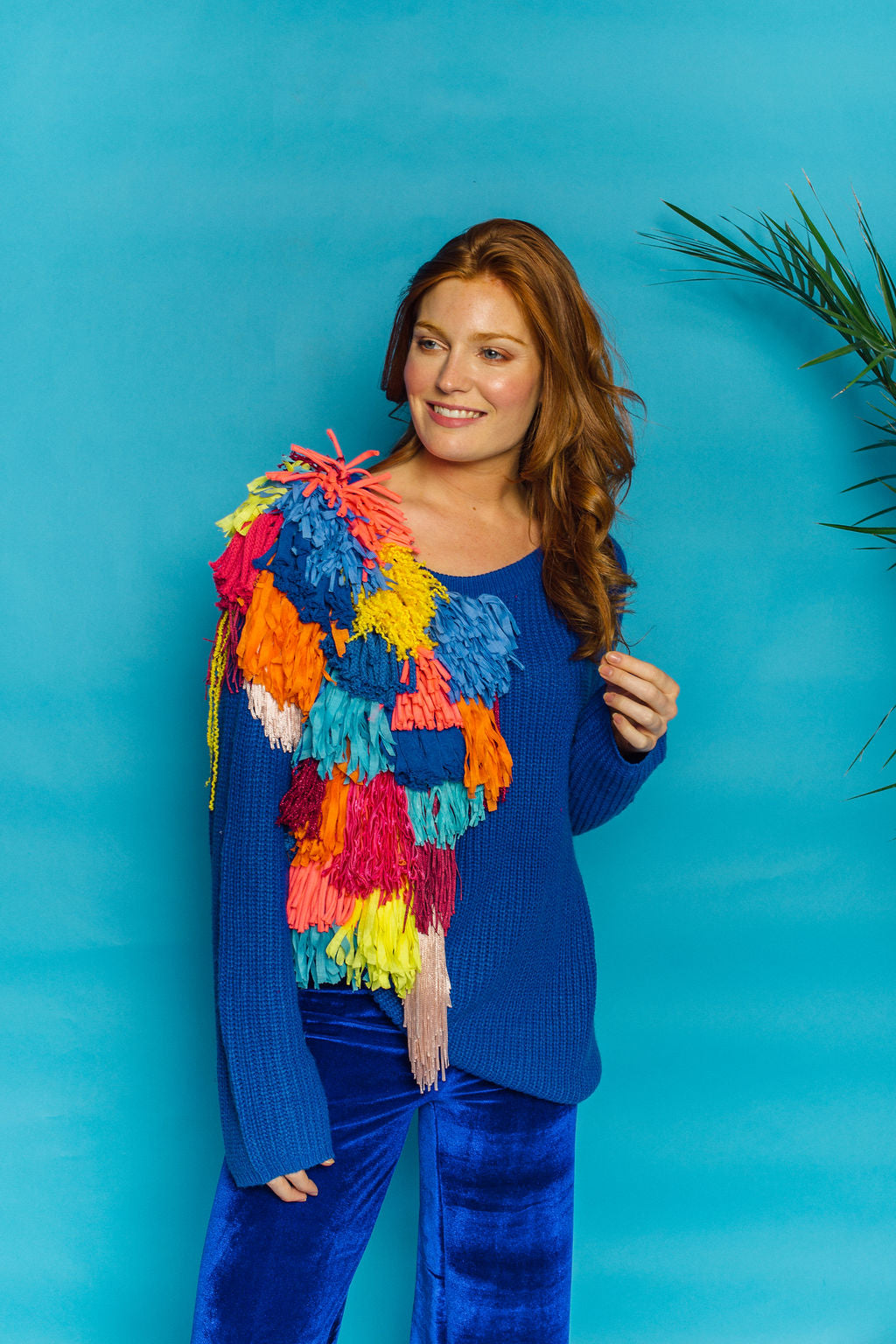 Bespoke Knitted Jumper- Blue - Jumper - Megan Crook