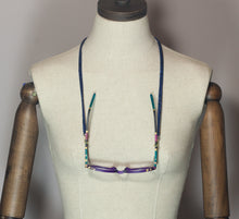 Load image into Gallery viewer, Glasses Chain in Blue - Necklace - Megan Crook