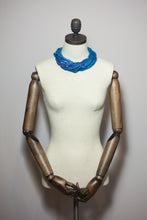 Load image into Gallery viewer, Silk Yarn Necklace in Blue and Turquoise - Necklace - Megan Crook