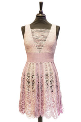 Peek-a-boo Tier Dress in Lavender and Lilac (SALE) - Dress - Megan Crook
