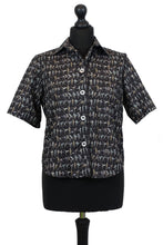 Load image into Gallery viewer, Liberty Blouse in Tiny Dancer Grey and Black - Blouse - Megan Crook