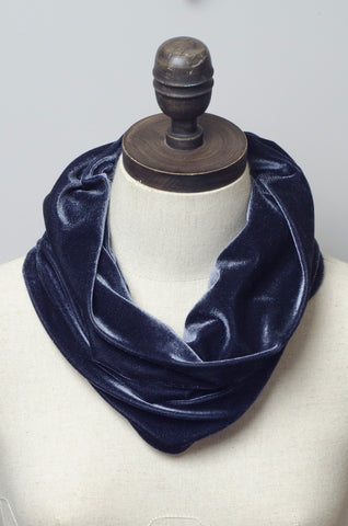 Velvet Cowl in Steel Grey