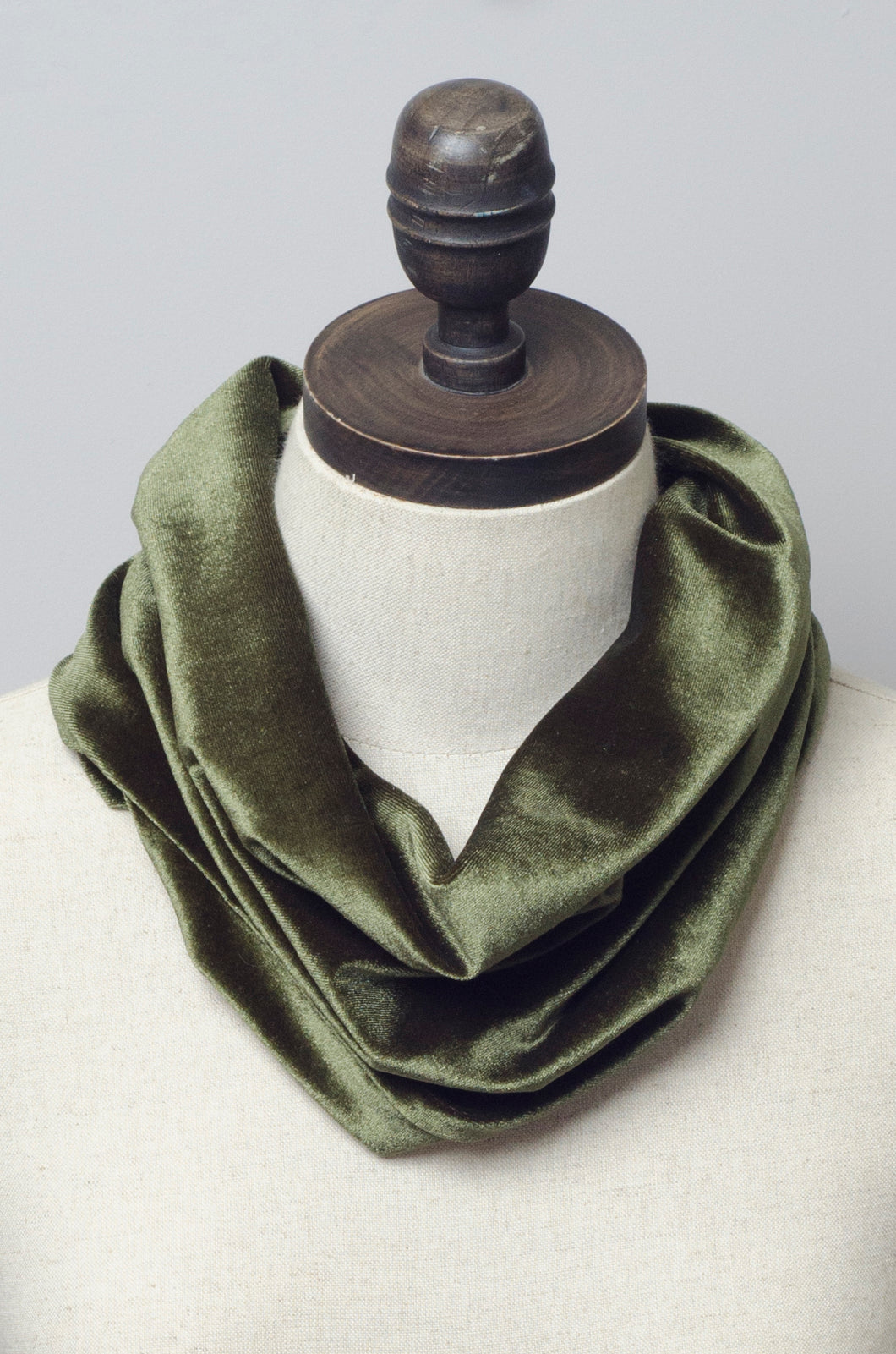 Velvet Cowl in Khaki - Accessories - Megan Crook