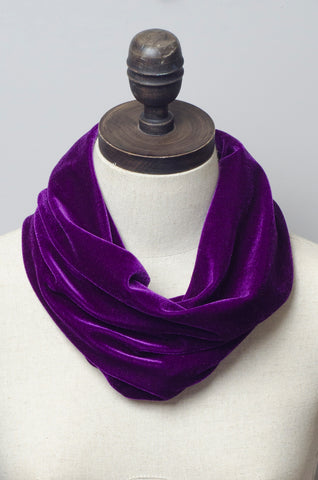 Velvet Cowl in Purple