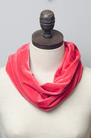 Velvet Cowl in Salmon