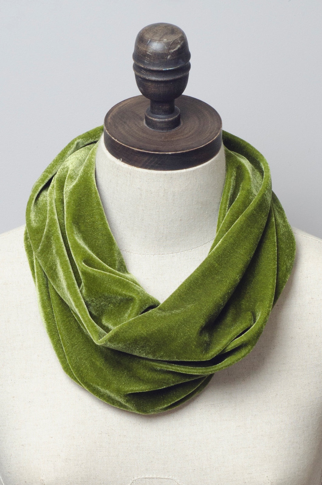 Velvet Cowl in Olive Green - Accessories - Megan Crook