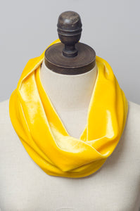 Velvet Cowl in Yellow - Accessories - Megan Crook