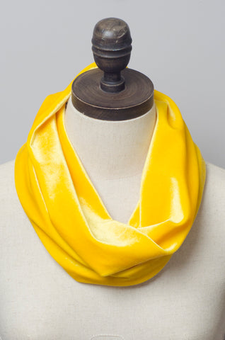 Velvet Cowl in Yellow