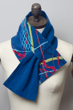Load image into Gallery viewer, Embellished Lambswool Neck Wrap in Ocean Blue - Scarf - Megan Crook