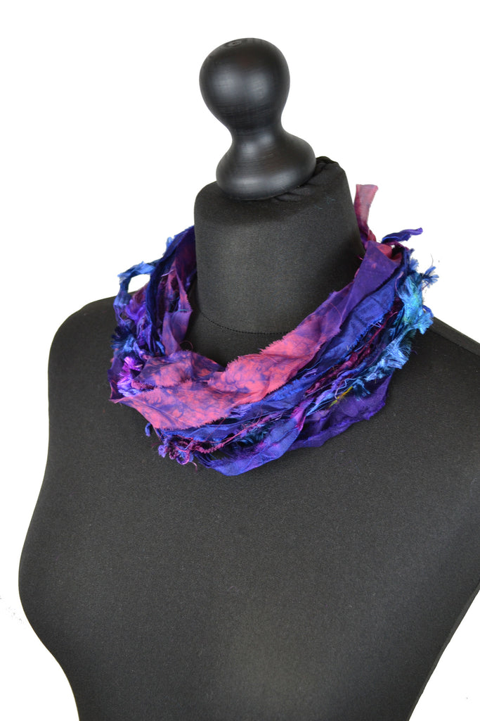 Silk Yarn Necklace in Purple - Necklace - Megan Crook