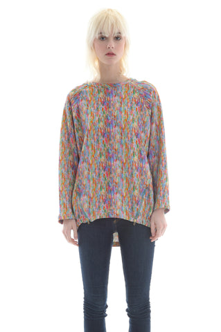 Liberty Fleece Raglan in Orange, Pink, Green, Blue Multicolour