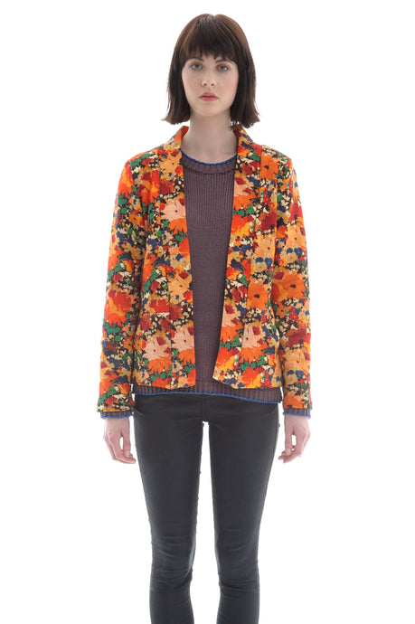 Liberty Open Jacket in Abstract Floral Print - Jacket - Megan Crook
