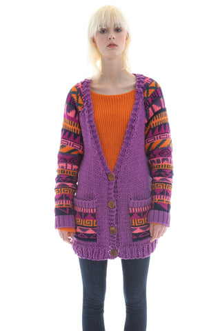 Hand Knit Fairisle Cardigan