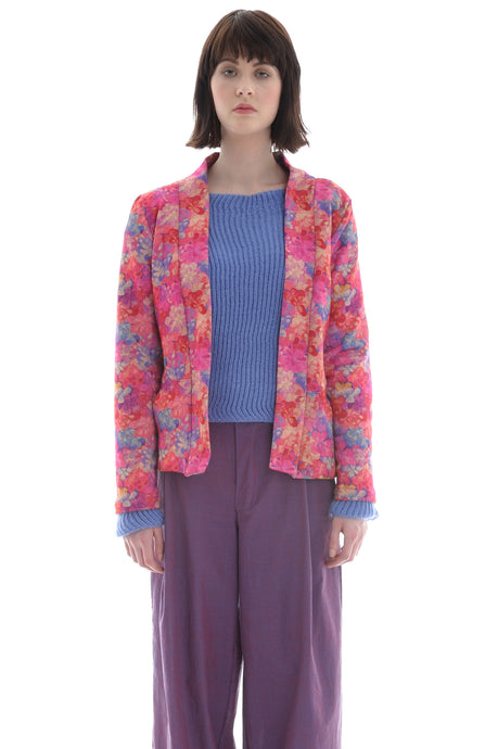 Liberty Open Jacket Pink Floral Emerald Bay Print - Jacket - Megan Crook