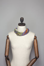 Load image into Gallery viewer, Silk Yarn Necklace in Gold and Purple - Necklace - Megan Crook